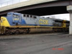 CSX 657 leads the CSX Q153 WB on the #2 Track