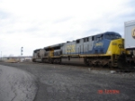 A pair of CSX AC6000CW's head WB on the #2 Track