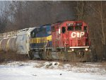 CP 5877 in snow