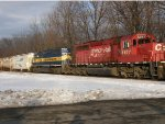 CP 5877 and ICE 6426 in snow