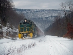 RBMN 5017 With snow blowing from coaches in Lehigh Gorge