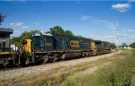 CSX 8563 + 5261 passing the old Dothan depot