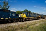 HLCX 7199 CSX 482 + 8563 pass the old Dothan depot