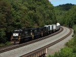 NS 2538 west at Mile 255 Pittsburgh Line