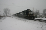 NS eastbound dashing through the snow