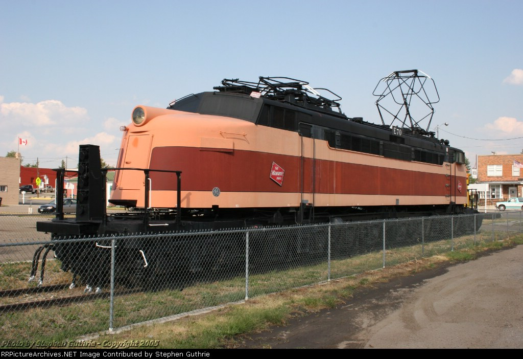 Milwaukee Road E 70 on display at Deer Lodge, Montana.
