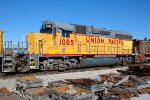 UP 1005, EMD GP38-3, Lease unit, GP40 rebuild, at the Bluffs Yard
