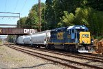 GP40-2 6226 leads C770-25 back into the yard