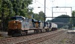 CSX ES40DCs 5356, 5288 and ES44AH 3055 lead Q034-07