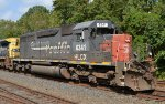 Roster shot of HLCX SD40-2 6341 in Southern Pacific paint on Q300-22