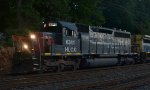 "HLCX SD40-2 6341 ""Southern Pacific"" leads Q300-23"