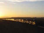 BNSF 7544 at dusk