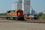 BNSF 8630 sits and idels on the yard track.