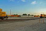BNSF 5375 and bnsf 5759 sit on a track measurement train.