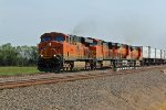 BNSF 7216 rips a WB hotshot across the state of KS.