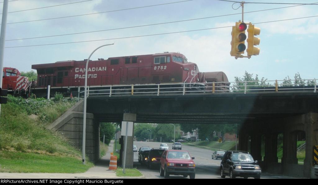 CP ES44AC over the bridge
