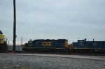 CSX GP38-2 and 3GS21B at yard