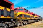 KCSM Locomotives at yard