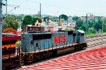 KCS SD70MAC gray locomotive