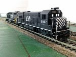 HO scale Central Michigan 8902.  the Only unit on the roster to have had an EMD cab.