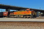 BNSF 4780 runs dpu on a grain train.