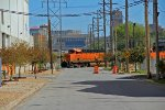 BNSF 6206 leads a Empty coal Nb Thur KC.