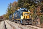 CSX 2258 running around its train