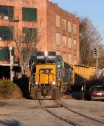 CSX 2258 leading A742 off the Belt at Oakland Jct.
