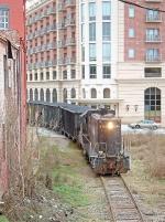 HRT 8396 leading a coal train to UGA