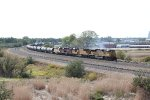 UP 3480 leading a train out of Bailey Yard