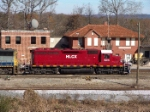 HLCX 6315 poses in front of the depot