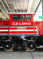 CZ Loko 744 - a new shunter at InnoTrans
