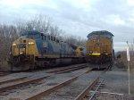 Stationary CSX Coal Trains