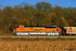 Eastbound BNSF Loaded Coal Train DPU Locomotive