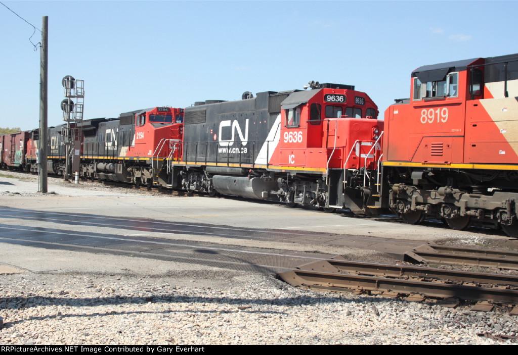 CN 8919, IC 9636, CN 2154 & CN 2258 - Canadian National