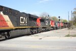 CN 2258, CN 2154, IC 9636, CN 8919 & CN 2547 - Canadian National (and an Illinois Central wearing CN colors!