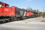 CN 2154, IC 9636, CN 8919 & CN 2547 - Canadian National (and an Illinois Central wearing CN colors!