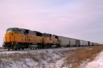 UP 2443 leading Eastbound Grain