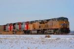 Watco GP40-2Ws deadheading on a coal drag