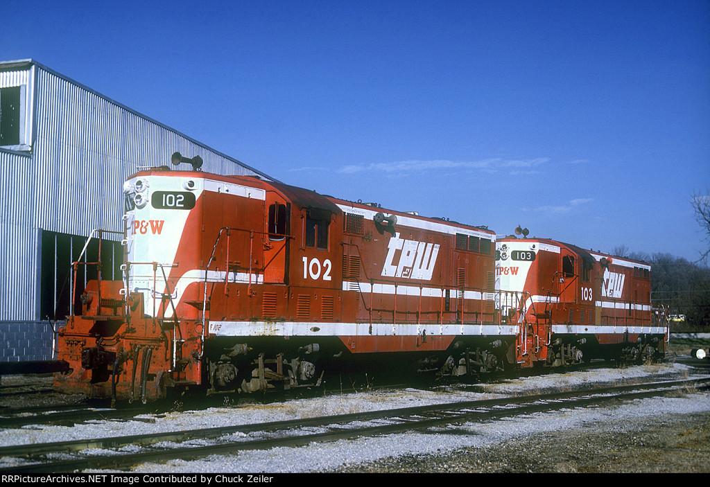 TP&W GP7 102