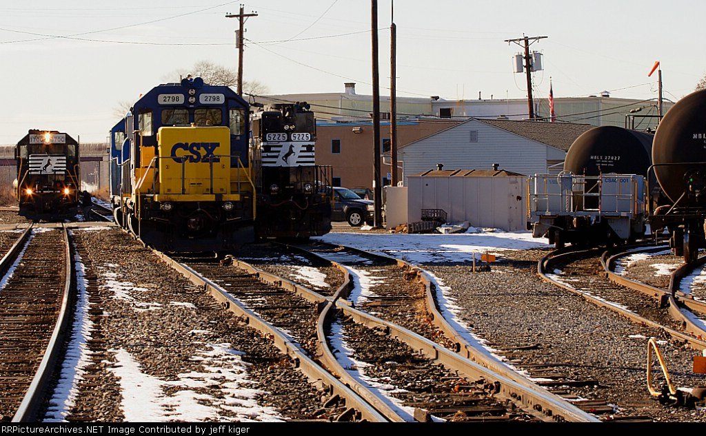 Overview of power at Paulsboro Yard.