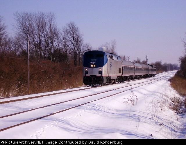Amtrak #51 rolls west