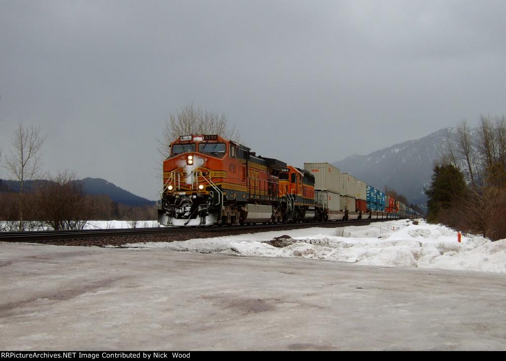 A down hill stack train, that makes a good snow shot.