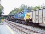 CSX 10 lends a hand on this coal train