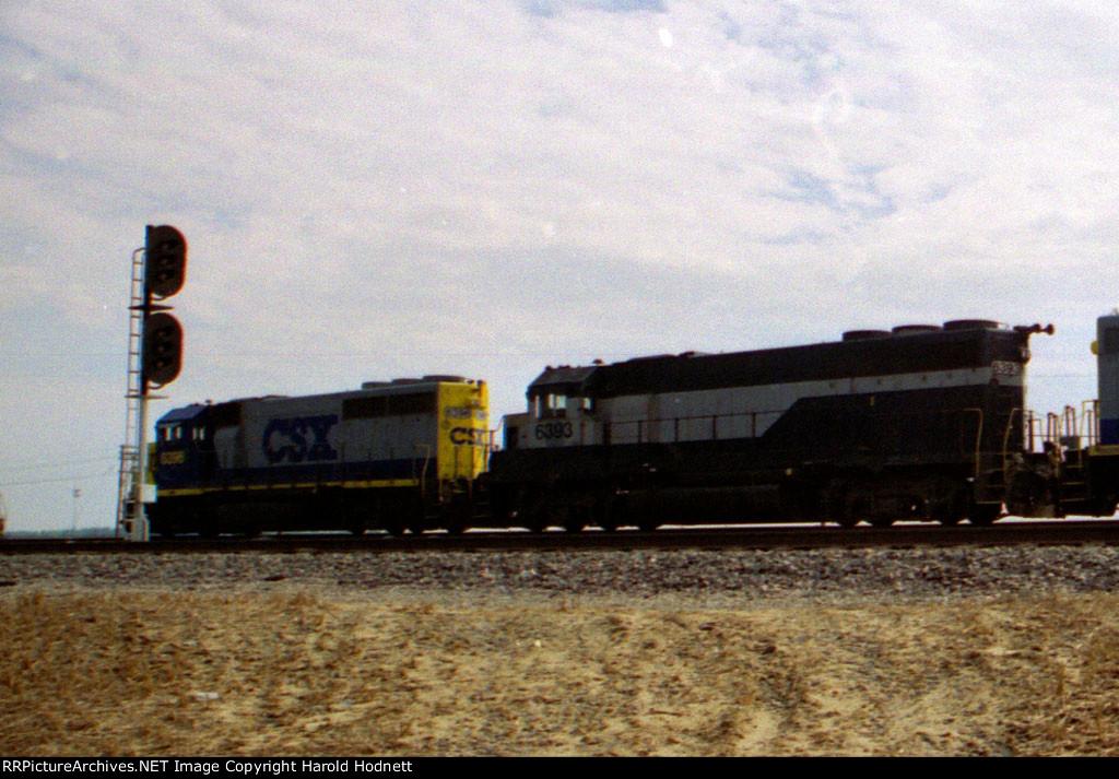 CSX 6393 & 6396, both former RF&P units