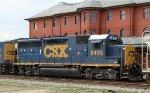 CSX 6495 passes the station