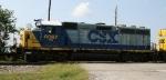 "CSX 6067 displays its ""Pulling for America"" slogan"