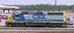 CSX 6157 sits outside the shops