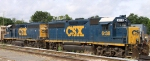 CSX 6138 & 6140 sit in the Raleigh yard