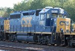 CSX 6003 sits in the dead line with other locos